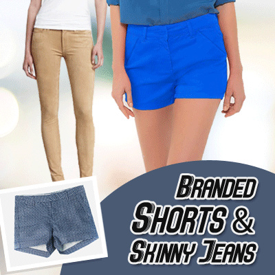 BEST SELLER Women Short Pants and Skinny Jeans Long Pants Deals for only Rp60.000 instead of Rp60.000