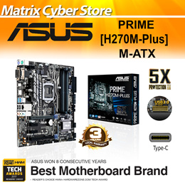 ASUS PRIME H270M-PLUS LGA1151 M-ATX MOTHERBOARD DDR 4 Intel Optane Redy [3 Years Warranty]