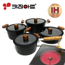 Kitchen Art Frot IH Ceramic Induction Pot 4-Set / Korea Cooking pots  / All heat sources available
