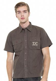LGS-Regular Fit - Kemeja Casual - Coklat - Bermotif Salur-LESH.291.WD0206.097.7C
