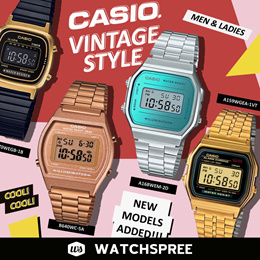 *NEW MODELS ADDED* CASIO VINTAGE STYLE WATCHES SERIES! Free Shipping and 1 Year Warranty.