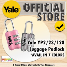 Yale YP2/23/128 Luggage 3-Digit Combination Lock (7 Colours)