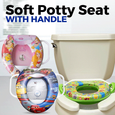 Soft Potty Seat with Handle Deals for only Rp49.000 instead of Rp49.000