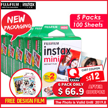 【Fujifilm】** 200 Sheets / 10 Packs**Instax Polaroid Camera films for 7s/8/9/25/50s/90♣ Expiry 2019.9