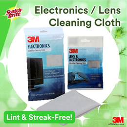 [Official E-Store] Scotch-Brite™ Microfiber Cleaning Cloth - Electronics / Lens