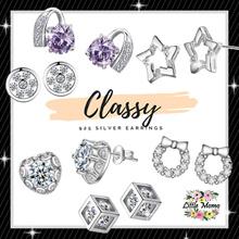 LITTLE MOMO 💎 925 SILVER EARRINGS ANTI-ALLERGY 💎 CLASSY DESIGNS