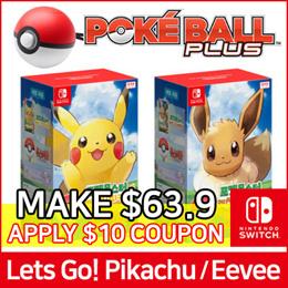 cb81f8834995 search.  Nintendo Switch  Pokemon Lets Go!! Pikachu   Eevee + Monster Ball  Plus