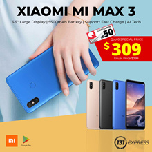 [New] Xiaomi Mi Max 3 | 64-128GB | Google Play Store Ready | Stock arriving | Local Seller | 309nett
