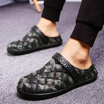 4bd9802e0415 store New Winter Men Sandals 2017 New Croc Men Beach Shoes Camouflage  Slippers plush Warm Flip