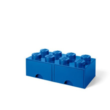 LEGO 8-Stud BLUE Storage Brick Drawer (LS-40061731)