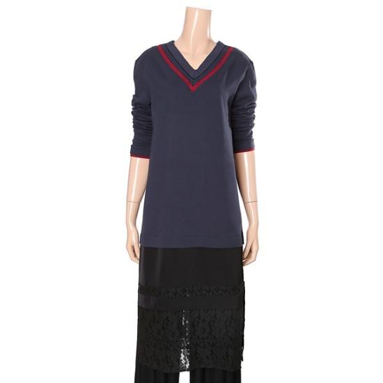 ・ビジット・インニューヨークブイネクマンツーマンワンピースVT9OP14 面ワンピース/ 韓国ファッション