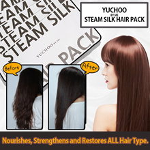 5+1! ◤SOFT + SMOOTH RESULTS⇒TANGLE-FREE◢☆IMMED. RESULTS YUCHOO STEAM HAIR PACK! NO MORE CONDITIONER