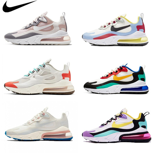 [S$105.00](▼55%)[NIKE] Nike Air Max 270 React Mens Womens Running Shoes LIMITED EDITION Sneakers (20 Colours)