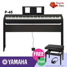[ DIGITAL PIANO SALE!] ★★ Yamaha P-45 Black P-Series Digital Piano★★| Music Keyboard |