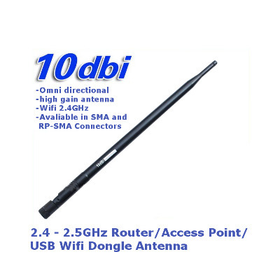 2 4GHz WIFI Router (High Gain 10dBi Omni Directional) Antenna (Ship  Locally!!!)