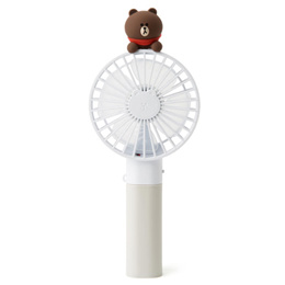 ★LineFriend Brown Sally Figure Handy Fan★ Genuine license / Portable Fan / marvel / mickey / iron