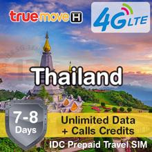 IDC ★ Thailand SIM Card 7-8 Days ★ TrueMove AIS ★ Unlimited 4G LTE Data Calls Prepaid Plans
