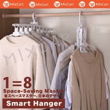 1=8 Magic Hangers★Storage cloth dress hanger★Pants Magic Hanger★Magic Hanger★Cabinet pole organiser