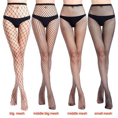 aa34c2973a7 wholesale 2019 Women Sexy Fishnet Stockings Fish Net Fashion Pantyhose Mesh  Black Stockings Lingerie