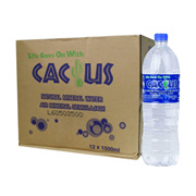 Cactus Mineral Water 1 Carton (12 x 1.5L)