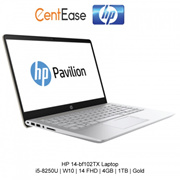 HP 14-bf102TX Laptop - i5-8250U | W10 | 14 FHD | 4GB | 1TB | Gold