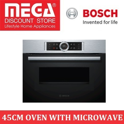 Bosch Cmg633bs1b 45cm Built In Oven With Microwave Function Local Warranty