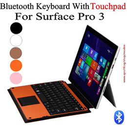 New Arrival Microsoft Surface Pro 3 Type Cover Wireless Bluetooth Keyboard Case Cover With Touchpad