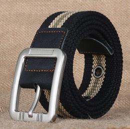 Mens Canvas Belt Casual Business Jeans Pin Buckle Belt