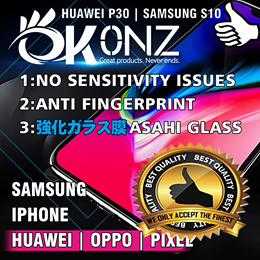 ★P30 Pro/S10★Samsung/Iphone/Huawei★Tempered Glass Screen Protector/Films★No Sensitivity Issue★