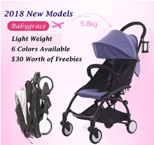 FREE GIFTS★2017 Pro Version★Babygrace Baby Cabin Travel Stroller Easy for Travel