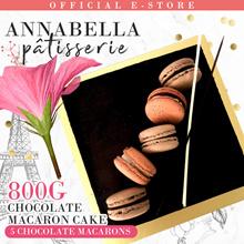 ❤800g Chocolate Macaron Cake - 5 Chocolate Macarons on Cake❤