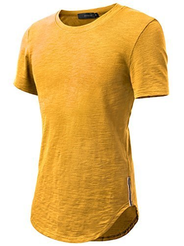 Direct from Germany - HEMOON Herren O-Neck T-Shirt Shaped Raglan Slim  Rundhals