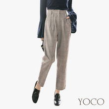 YOCO - Plaid Highwaist Trousers-172495-Winter