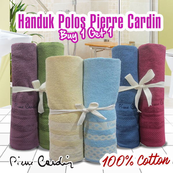 [ BUY 1 GET 1 ] Handuk Mandi PIERRE CARDIN | 100% COTTON | Size. 70x135 Cm Deals for only Rp199.900 instead of Rp199.900