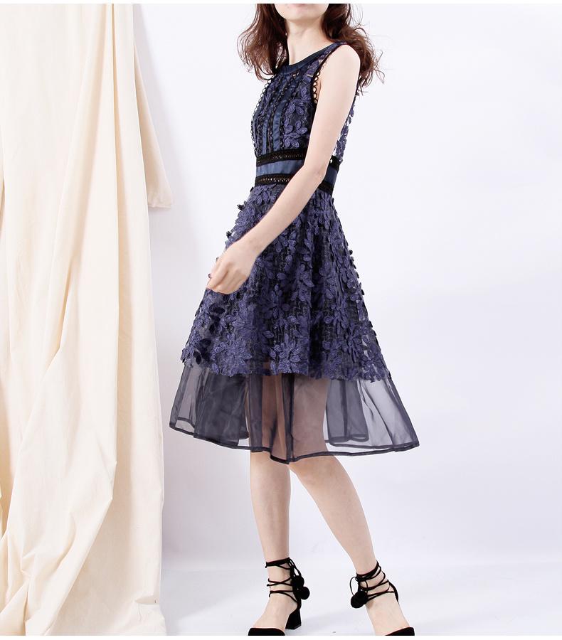 高品質★韓国ファッション2017新作★レースワンピース 結婚式 ワンピース 二次会ブラック フォーマル パーティードレス 花柄 大人 披露宴