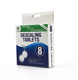 [BAMB CLEAN] 43211-1382 - Descaling Tablets 8 Pack for Coffee & Espresso Machines, Eco-Friendly
