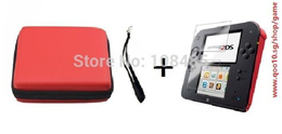 Red hard bag Airform cases +screen protector for Nintendo 2DS protective case