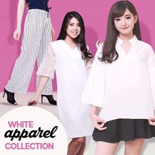 [FREE SHIPPING] White Collection / Blouse / Pants / Dress / Tanktop / Cullote / Tunik