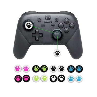 2Pcs Cat Paw Stick Caps Analog Caps Cover Thumb Grip Set for Nintendo  Switch Pro Controller