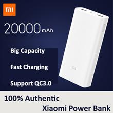 100% Authentic Xiaomi Mi PowerBank 2nd Generation 5000mAh 20000mAh Mobile
