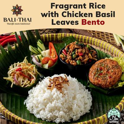 B1 Fragrant Rice w Chicken Basil Leaves Bento