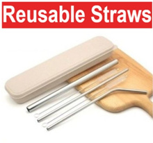 Buy3free1! [Single] Metal Straws|Reusable Straws|Stainless Steel Straw|304|Christmas Gift
