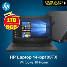 HP Laptop 14-bp103TX / 8TH Gen i5 /8GB DDR4 / 1TB HDD SATA /2YEAR onsite warranty