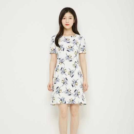 プラストーリーピッエンエイシルエットワンピースPH2WO576 シフォン/レース/フリル/ 韓国ファッション