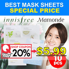 apply 20% shop coupon ! 2018 NEW! [Innisfree/Mamonde] Best Mask Sheets 10PCS/My sqeeze