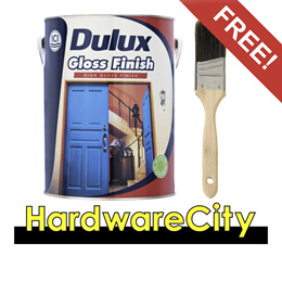 [FREE PAINT BRUSH] Dulux Gloss Finish Enamel Paint For Metal and Wood 1L