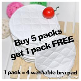 ★ON SALE★Washable nursing bra pads 100% cotton (4pcs)