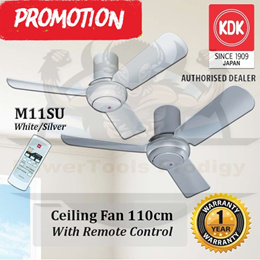 KDK M11SU CEILING FAN WITH REMOTE CONTROL /WALL FAN/STAND FAN / 110CM / AVAILABLE IN WHITE AND GREY