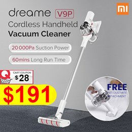 Xiaomi DREAME V9 Pro | V10 Cordless Vacuum Cleaner | 20 000 Pa Suction Power | Long Battery Life