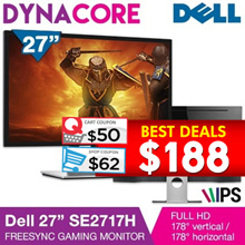Dell SE2717H 27 IPS FreeSync Gaming Monitor|3 Year warranty|Use qoo10 Coupon For more Discount|